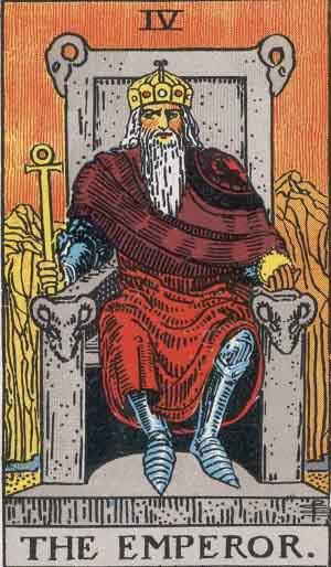 The Emperor Tarot Card From The Rider-Waite Tarot Deck.