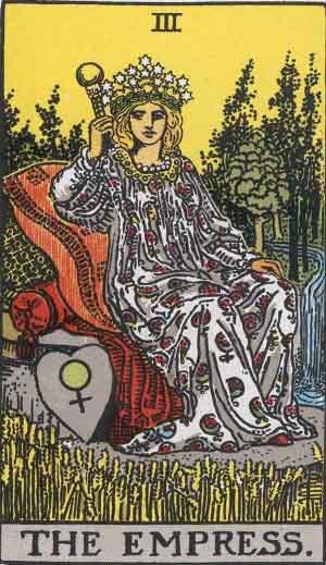 The Empress Tarot Card From The Rider-Waite Tarot Deck.