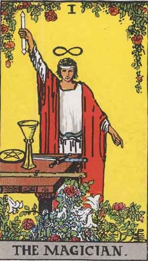 The Magician Tarot Card From The Rider-Waite Tarot Deck.